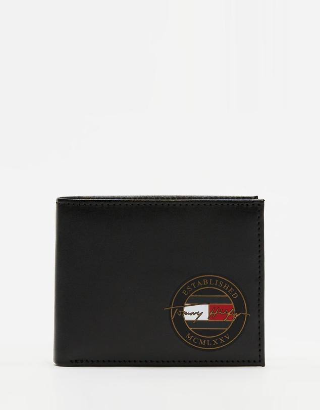 Men TH Signature Mini CC Wallet