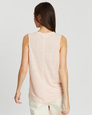 Jag Ava Linen Tank - T-Shirts & Singlets (pink)