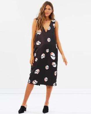 COOP by Trelise Cooper – Take The Plunge Dress – Dresses (Black Print)