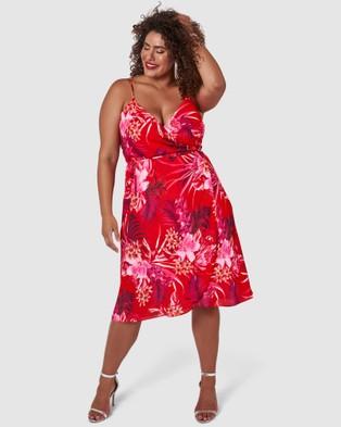 Pink Dusk - Celebration Dress - Printed Dresses (pink) Celebration Dress