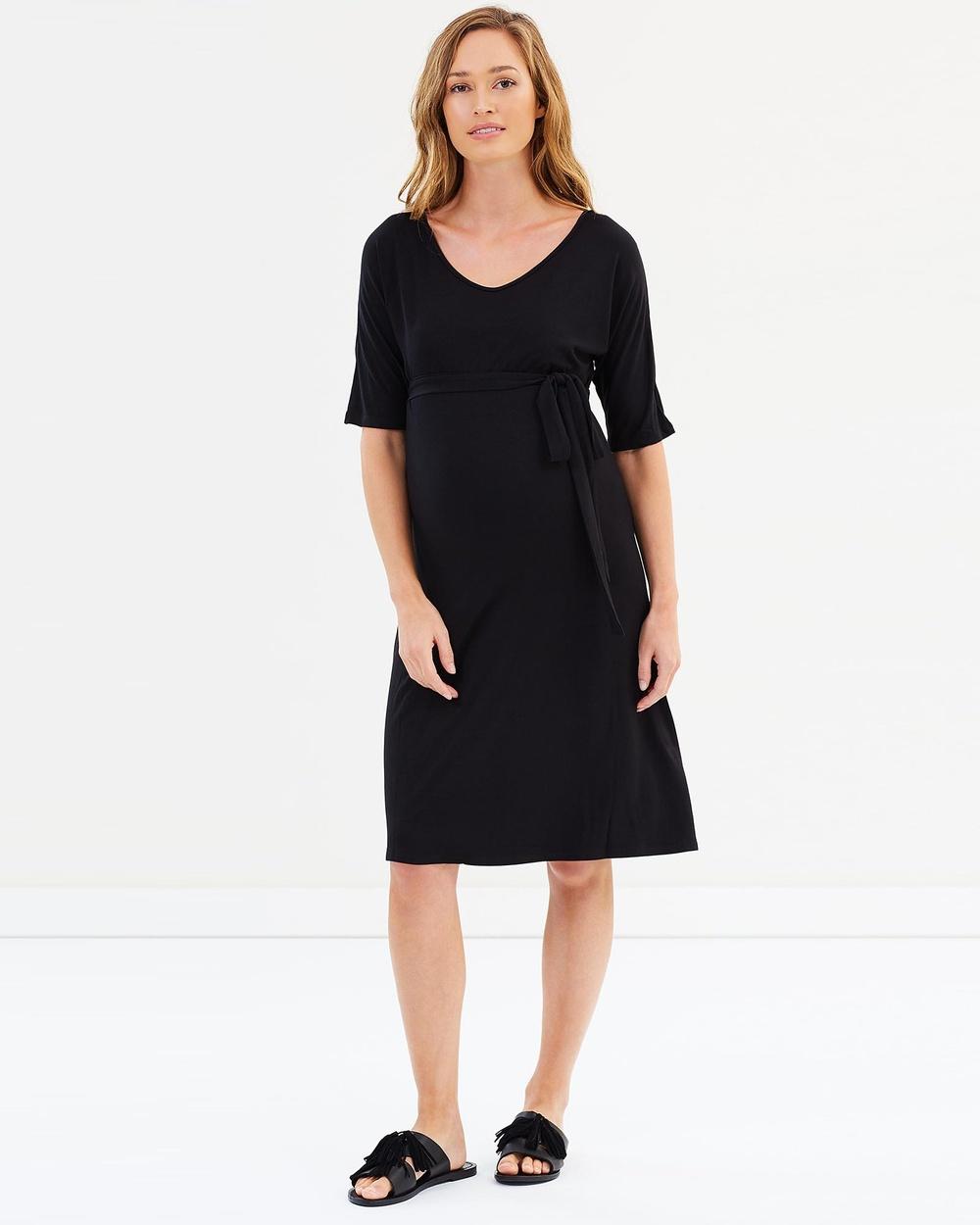 Bamboo Body Gemma Bamboo Dress Dresses Black Gemma Bamboo Dress