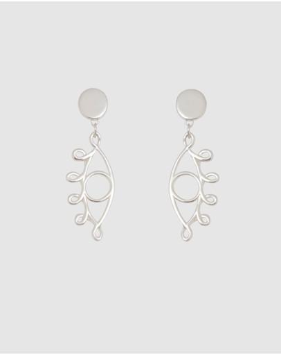 Saint Valentine Mini Illuminati Earrings Silver