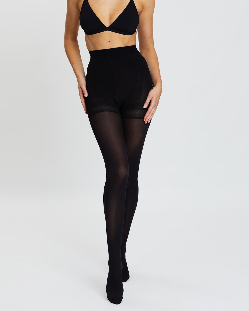 West Loop Shaping Tights Control Top Mid-rise Black Pick Your Size
