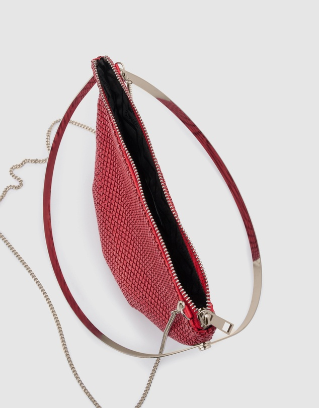 Olga Berg - Rondella Flat Mesh Handle Bag