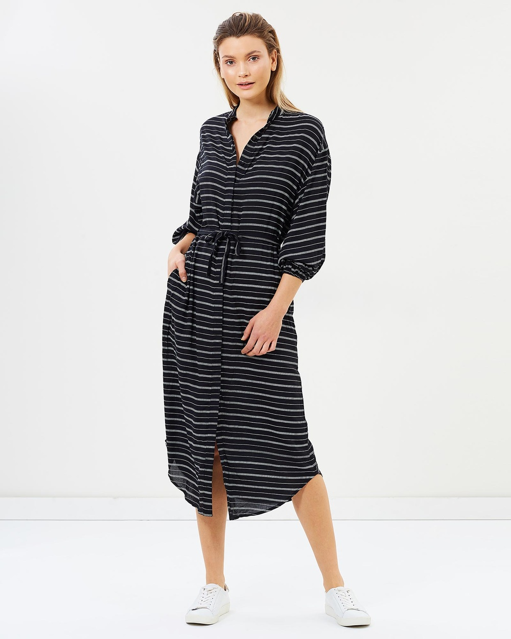 Lilya Rosso Dress Dresses Thin Black Stripe Rosso Dress