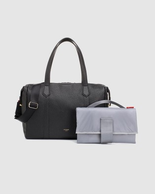 Storksak Lyra Leather Bags Lyra Black Leather