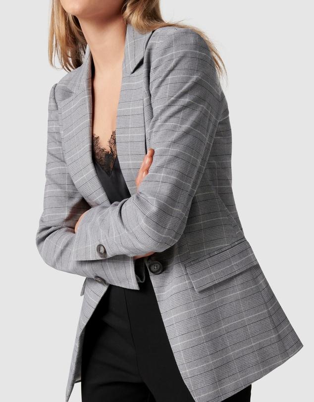 Women Grace Check Jacket