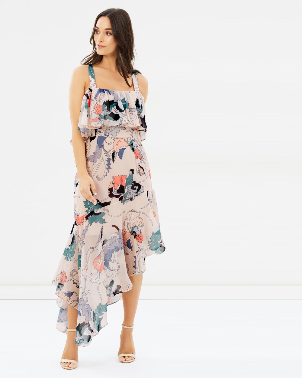Cooper St Whirl Away Asymmetric Dress Printed Dresses Print Whirl Away Asymmetric Dress