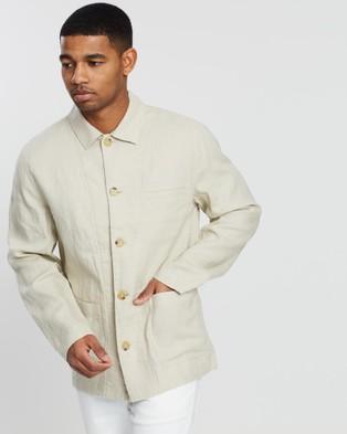 Jag Linen Workers Jacket - Coats & Jackets (neutrals)