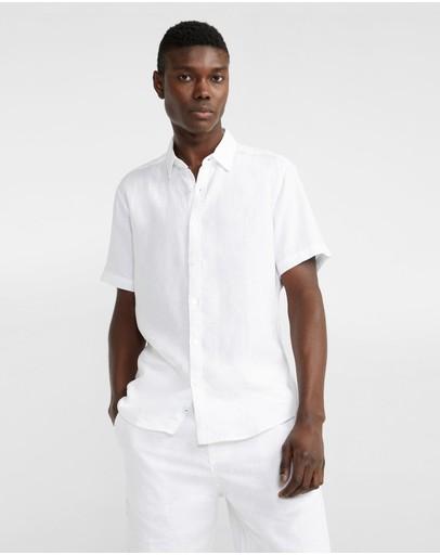 Yd. Lewis Linen Shirt White