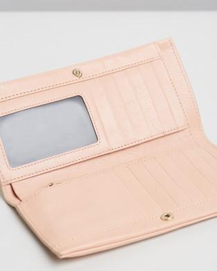 Hansen & Gretel Sue Soft Fold Wallet - Wallets (Blush)