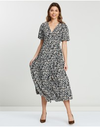 Atmos&Here - Porcia Wrap Front Dress