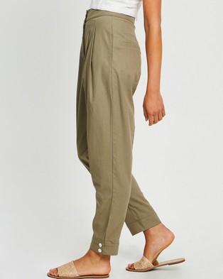 The Fated Martha Peg Pants - Pants (Khaki)