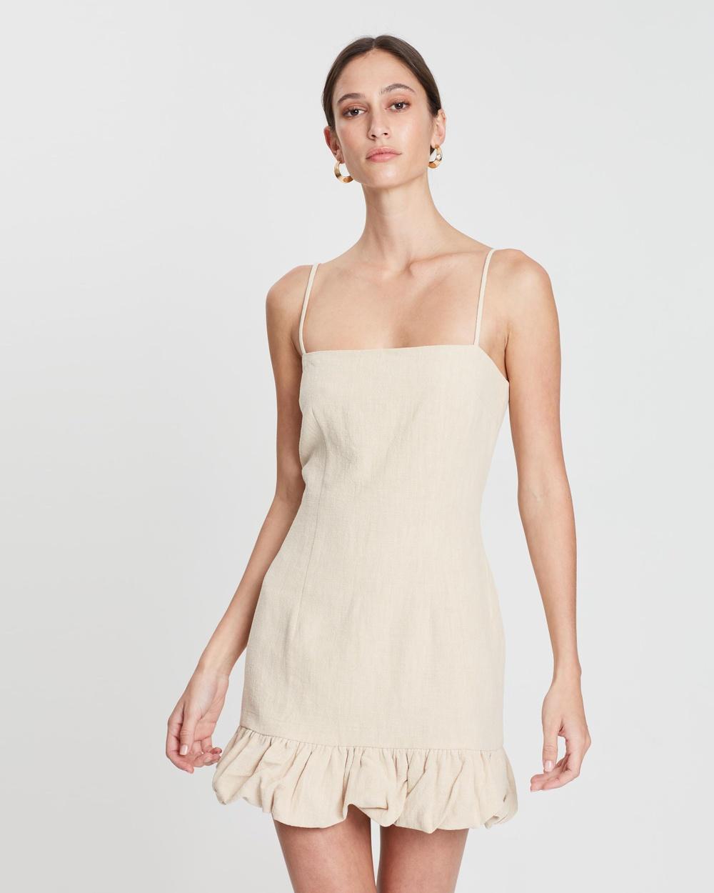 Bec & Bridge Natural Natural Woman Mini Dress