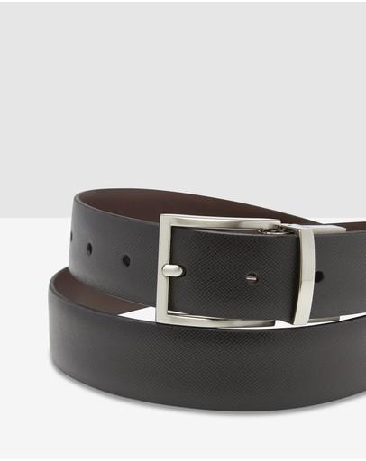 Oxford Harrison Reversible Belt Black/dark Brown