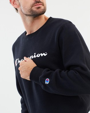 Champion Champion Script Crew - Sweats (Black)