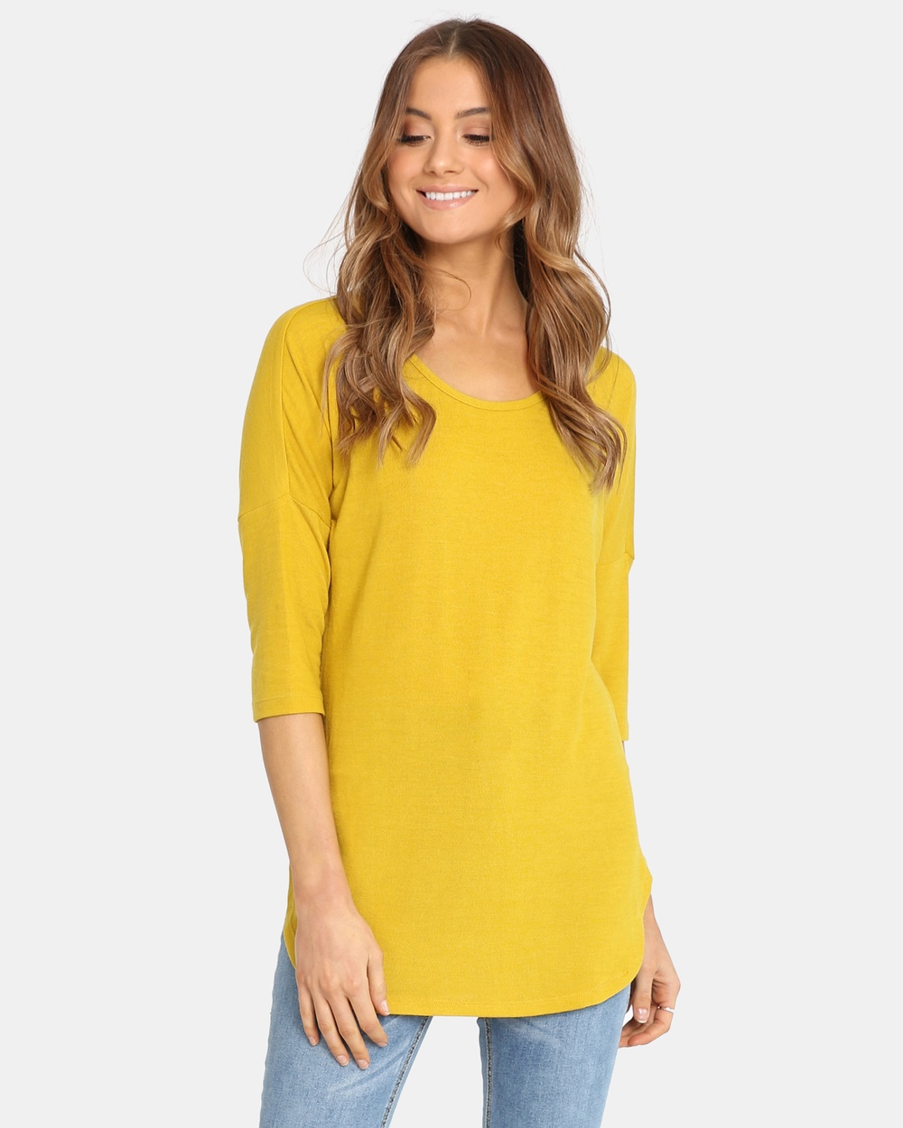 Madison Square Trixie Top Tops Mustard Trixie Top