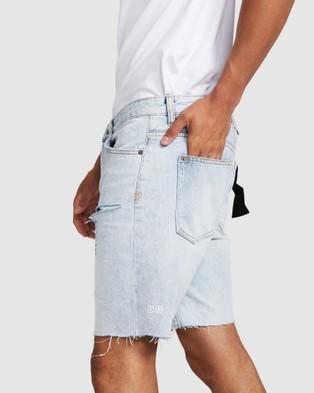 Ksubi Chopper Trashed Denim Shorts - Shorts (DENIM)