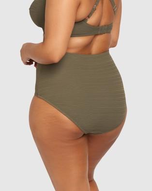 Artesands Aria Olive High Waist Swim Pant - Briefs (Aria Olive)