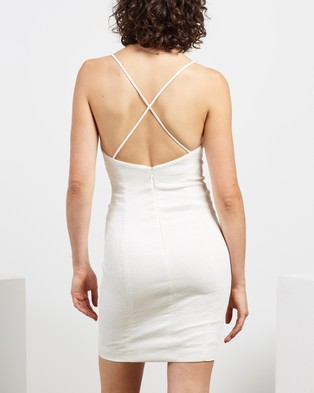 Shona Joy Simone Fitted Mini Dress - Dresses (Ivory)