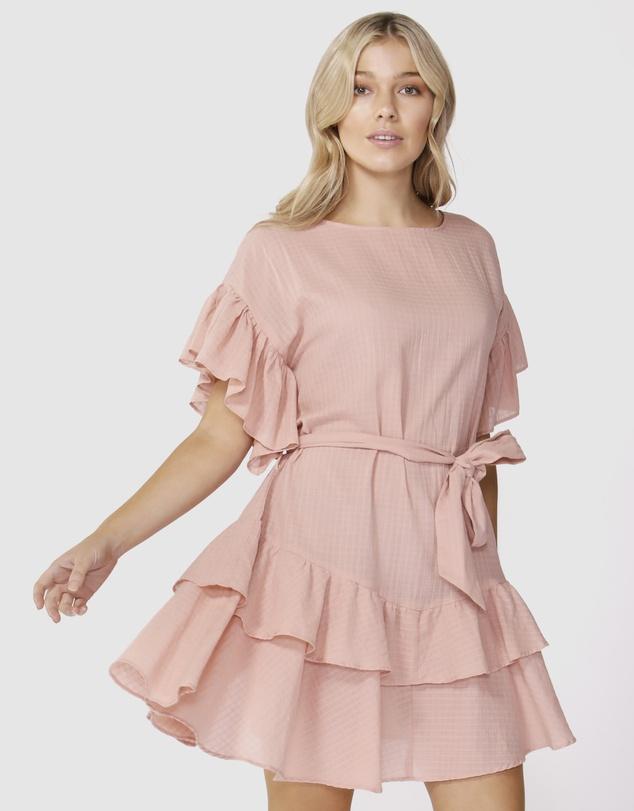 Ruffle Check Dress by Sass