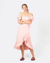 The Wolf Gang - Marseille Ruffle Wrap Skirt