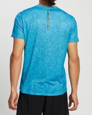 2XU GHST SS Tee - Short Sleeve T-Shirts (Matrix Aqua/Black Reflective)