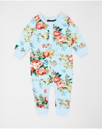 Rock Your Baby - French Floral LS Playsuit - Babies