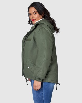 Sunday In The City Cooler Than Me Fur Lined Parka - Coats & Jackets (Green)