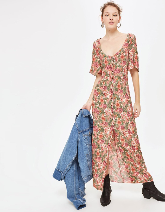 Floral Maxi Tea Dress By Topshop Online The Iconic Australia