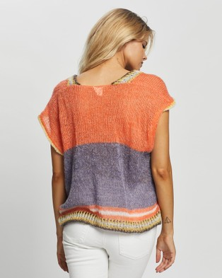 Love and Light The Label Lennon Vest - Tops (Orange)