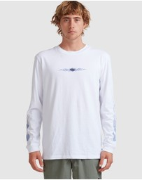 Quiksilver - Mens In Flames Long Sleeve T-Shirt