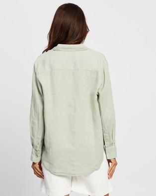Assembly Label Xander Long Sleeve Shirt - Tops (Soft Green)