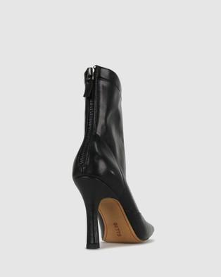 Betts - Zoe Square Toe Boots Heels (Black)