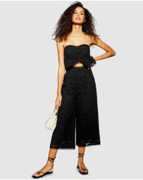 TOPSHOP - Broderie Anglaise Jumpsuit