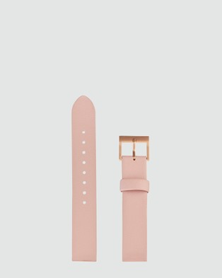 Status Anxiety Inertia - Watches (Brushed Cooper Case / White Face / Blush Strap)