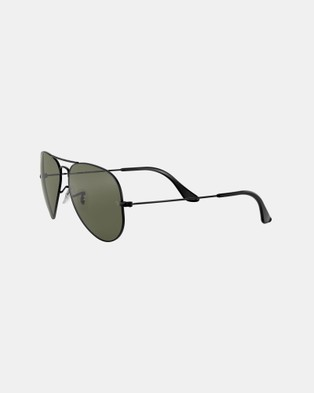 RaBan - Aviator Classic RB3025 - Sunglasses (Polarised Solid Colour Green)