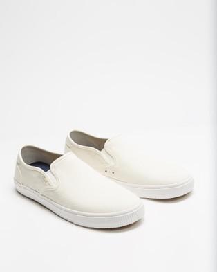 TOMS Baja Slip On Sneakers   Men's - Slip-On Sneakers (White)