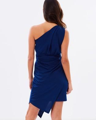 SKIVA One Shoulder Asymmetrical Dress - Dresses (Blue)