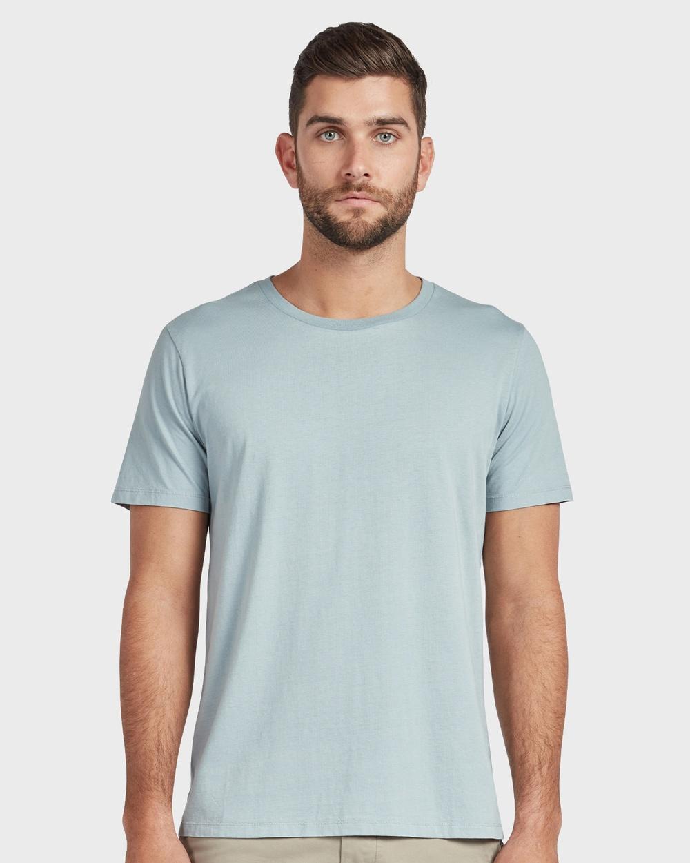 Academy Brand Blizzard Wash Tee Shirts & Polos Blue