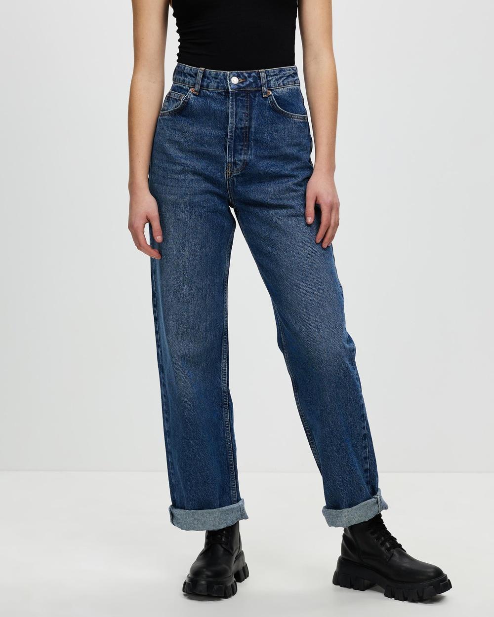 TOPSHOP High Waisted Oversized Mom Jeans High-Waisted Mid Denim Australia