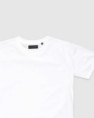 Stock & Co. - Stock Tee   Teens - T-Shirts & Singlets (WHITE) Stock Tee - Teens