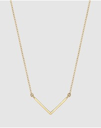 Elli Jewelry - Necklace Geo Minimal 925 Sterling Silver Gold-Plated