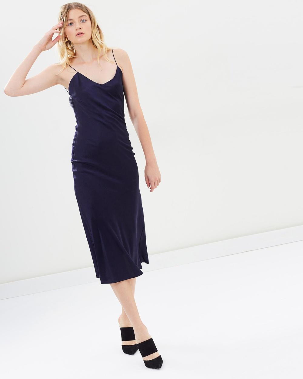 Hansen & Gretel Deep Navy Demi Silk Dress