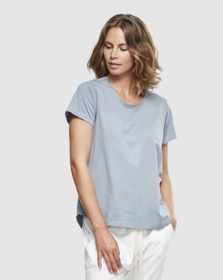 Cloth & Co. Organic Cotton Crew Neck T Shirt - Short Sleeve T-Shirts (Perriwinkle)
