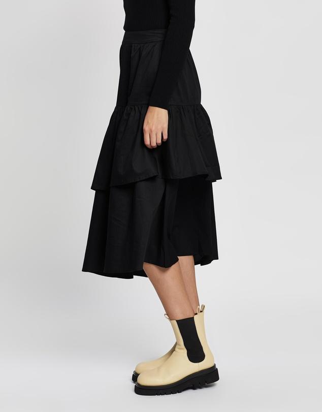 Women Zaria Ruffled Midi Skirt