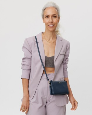 Saben Tilly Cross body Small Leather Bag - Clutches (Blue)