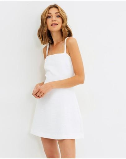 Black milk white cherry blossom dress