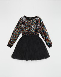 Rock Your Kid - Sequin LS Circus Dress - Kids-Teens