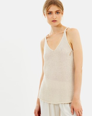 C & M Camilla and Marc – Maura Knit Singlet Oatmeal